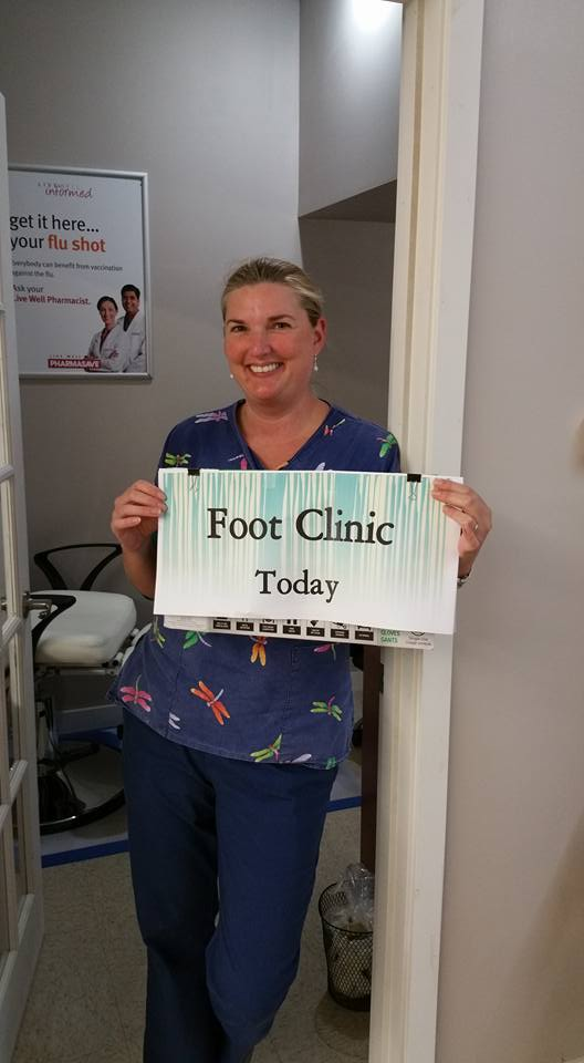 Foot care by appointment