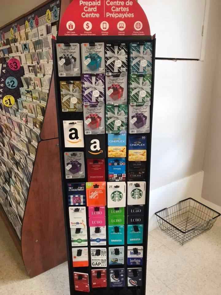 Alternate view of gift card selection